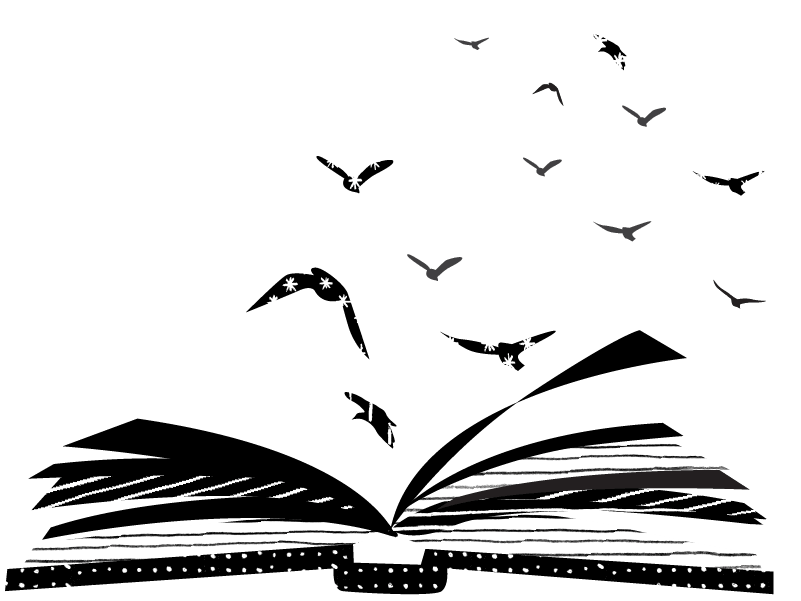 birds flying out of book
